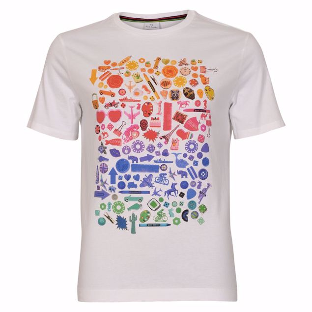 PAUL SMITH T-SHIRT HVID M. MOTIV