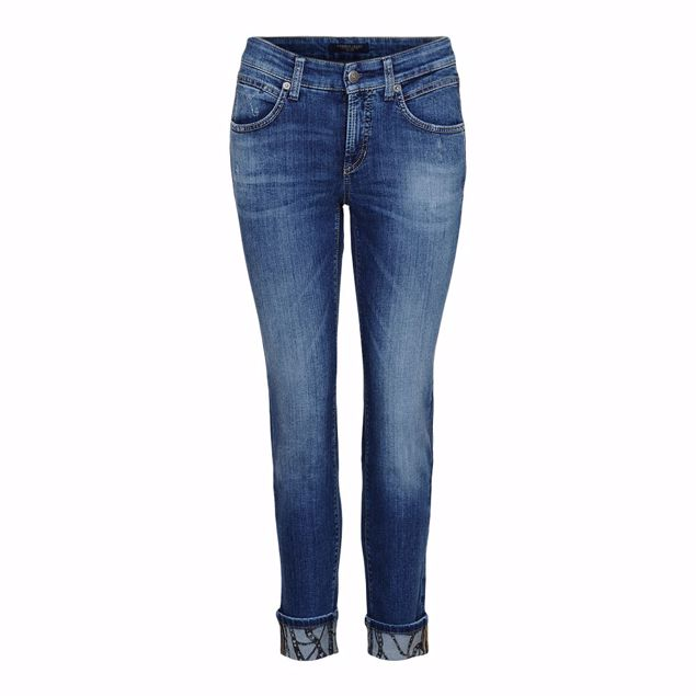 CAMBIO BUKS PINA SHORT BLÅ DENIM
