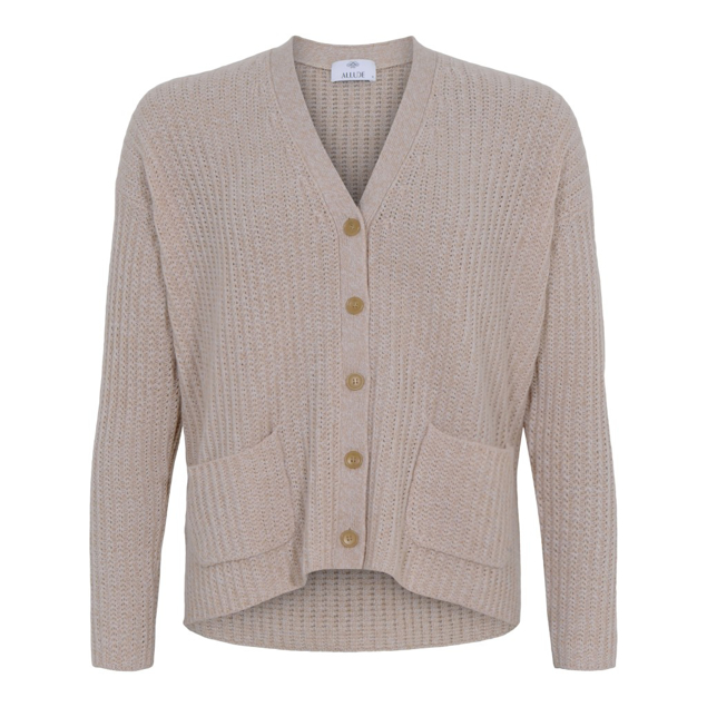 ALLUDE CARDIGAN CASHMERE LYS SAND