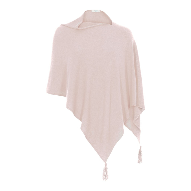 NILLE CASHMERE PONCHO ROSA