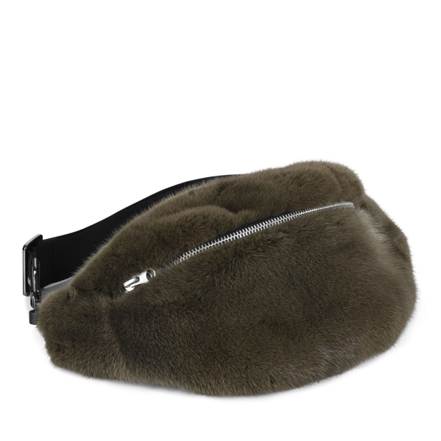 COSY CONCEPT FUR BUMBAG MINK ARMY