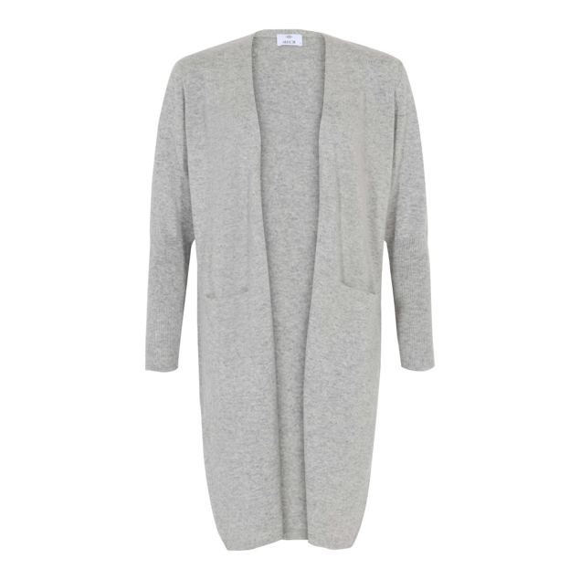 ALLUDE CASHMERE CARDIGAN LANG LYS GRÅ