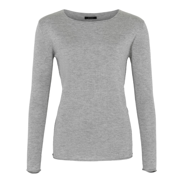 OH SIMPLE CASHMERE/SILKE STRIK GRÅ