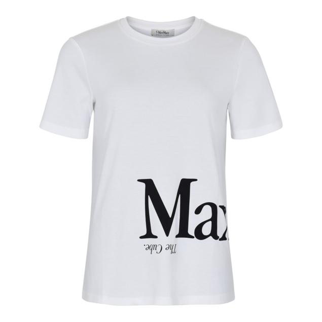 MAX MARA T-SHIRT KORT ÆRME HVID