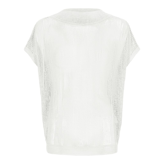 SARAH PACINI STRIK VEST OFF.WHITE