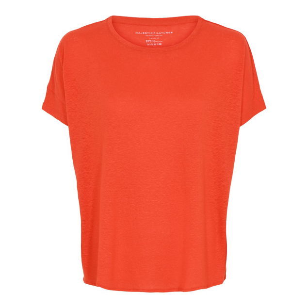 MAJESTIC HØR T-SHIRT KORT ÆRME ORANGE
